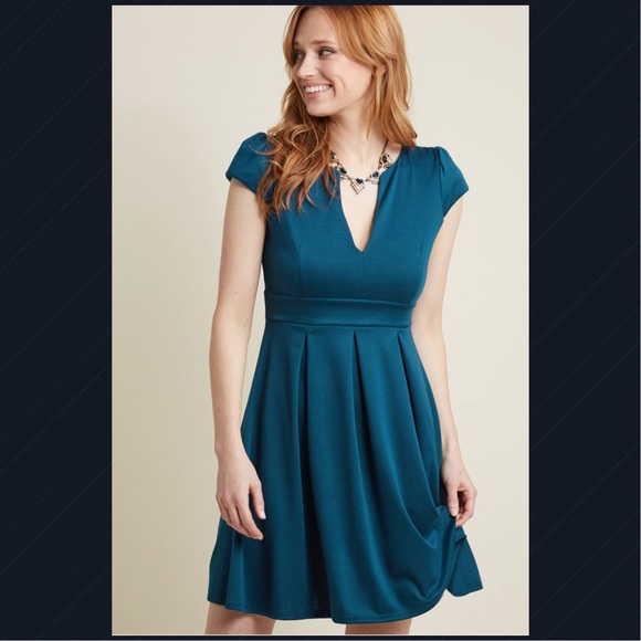 95fd1bdfb9 Modcloth's Meet Me at the Punch Bowl Dress in Blue